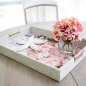 Decoupage Tissue Paper Tray