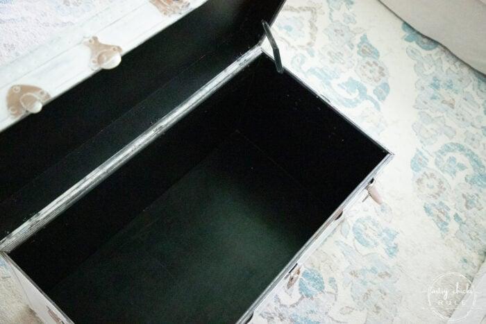 inside of trunk, black
