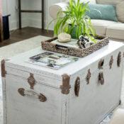 Rustic Trunk Coffee Table (easy DIY)