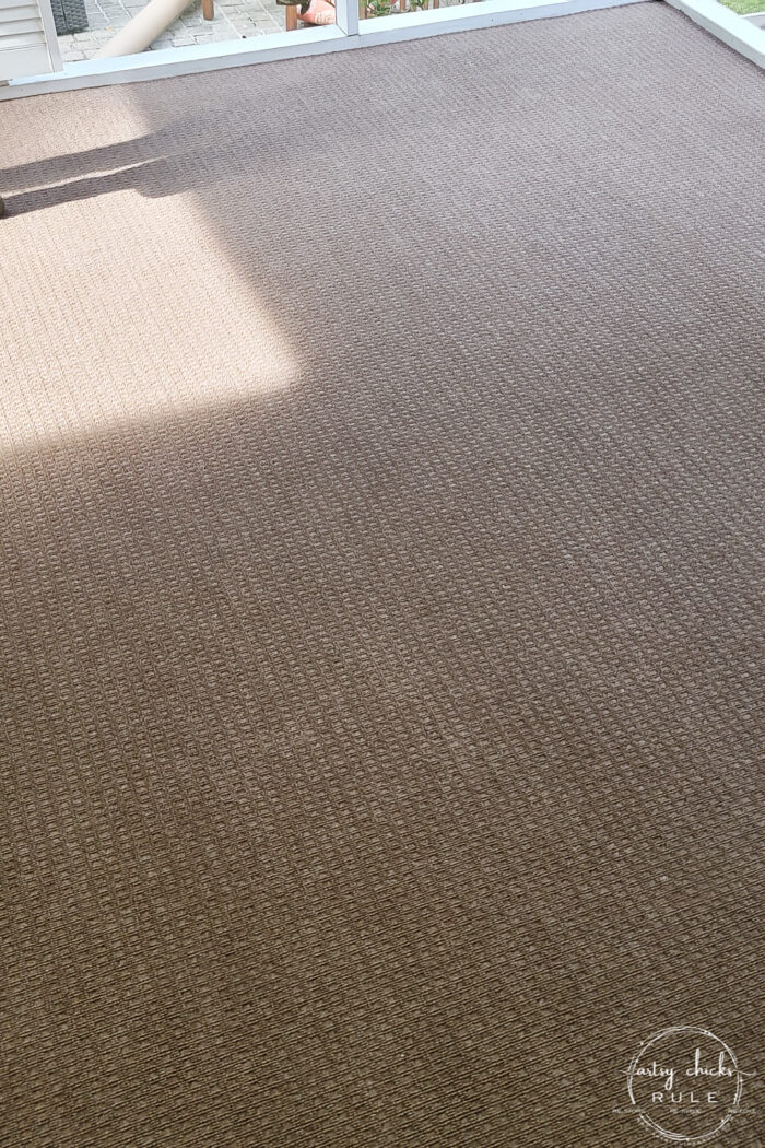 outdoor carpeting in brown