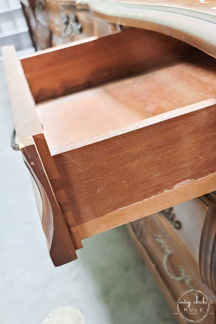 dove tailed drawer