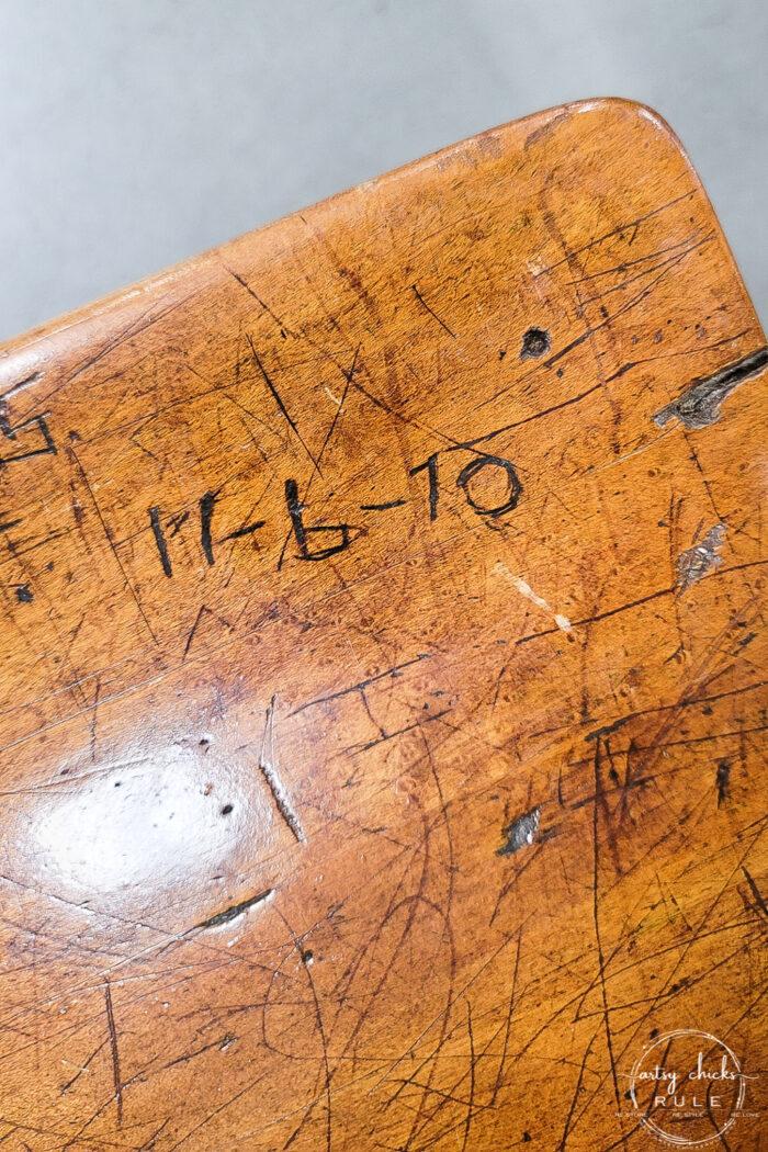 date carvings in wood