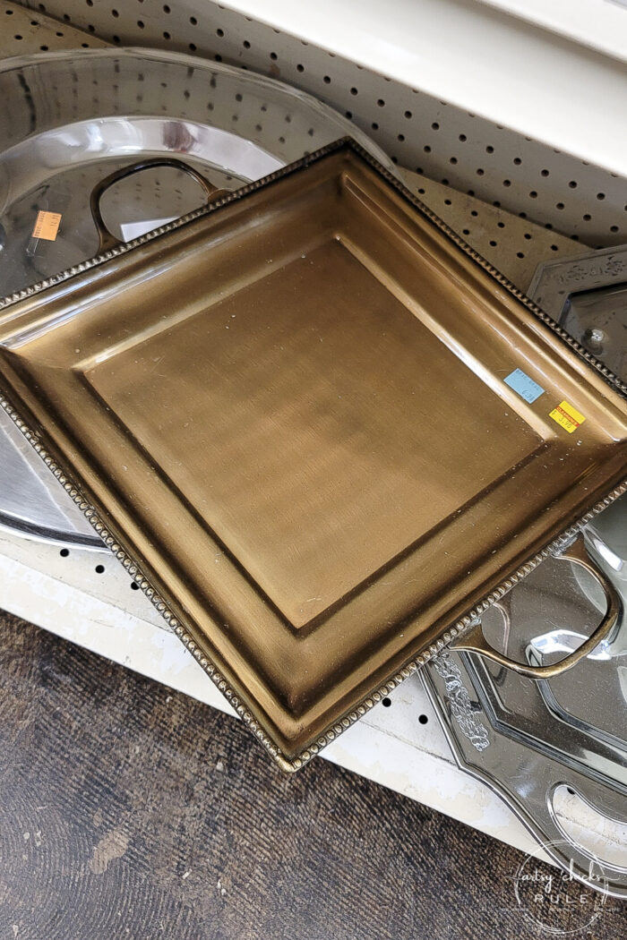 bronze tray with handles