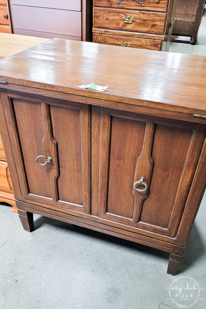 mid century modern sewing cabinet