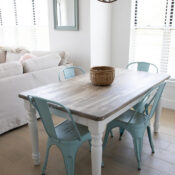 Faux Weathered Driftwood Tabletop