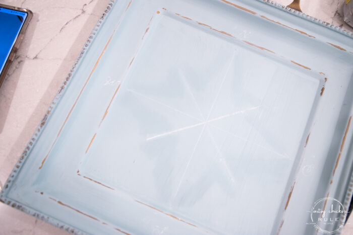marking blue tray for compass rose