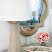 Faux Stone Look Lamp Makeover