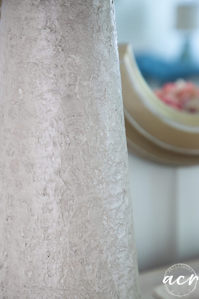 close up of texture on lamp