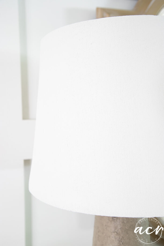 white lampshade painted