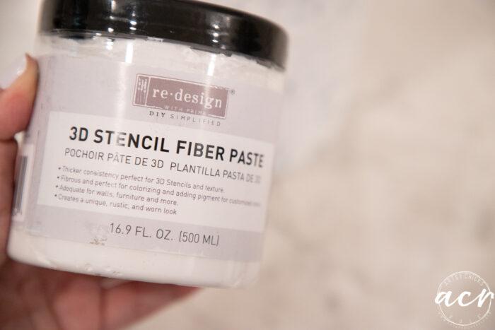 3d stencil fiber paste jar