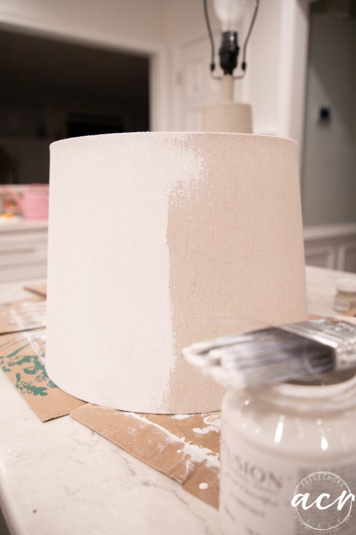 painting lampshade white