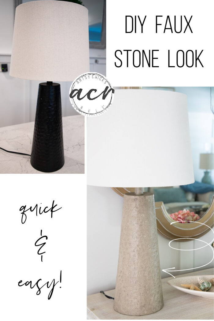 This basic little product gave this old lamp a fun new faux stone look...simple to do too! artsychicksrule.com
