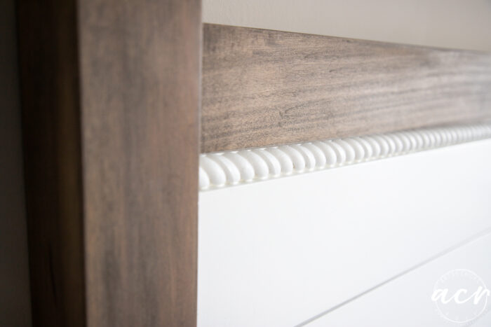 up close of white painted rope trim