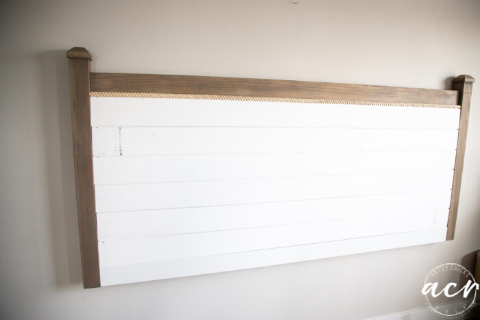 shiplap installed before painting