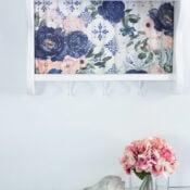 Floral Decoupage Shelf Makeover
