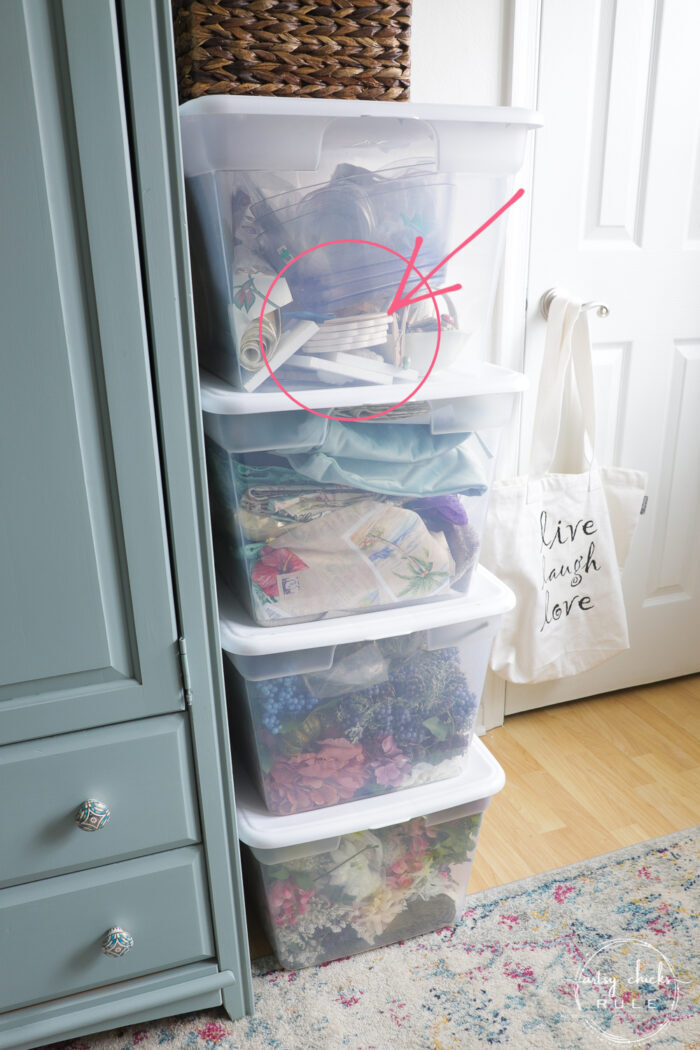 craft bins with coasters