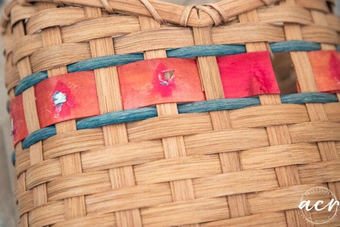red basket weave