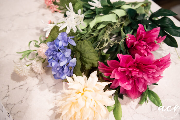 various colorful flowers