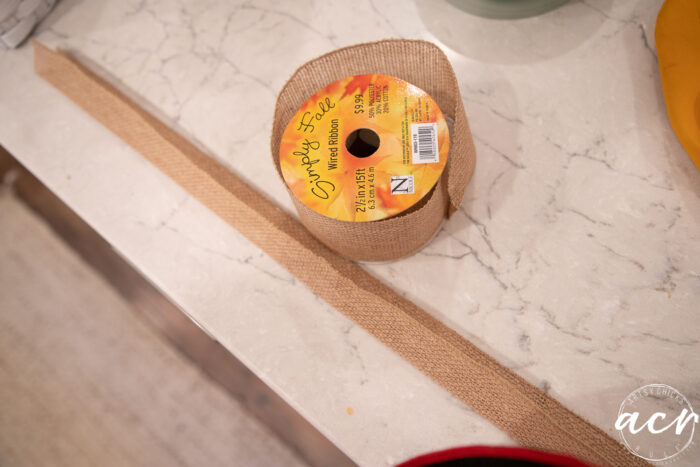 ribbon on a roll