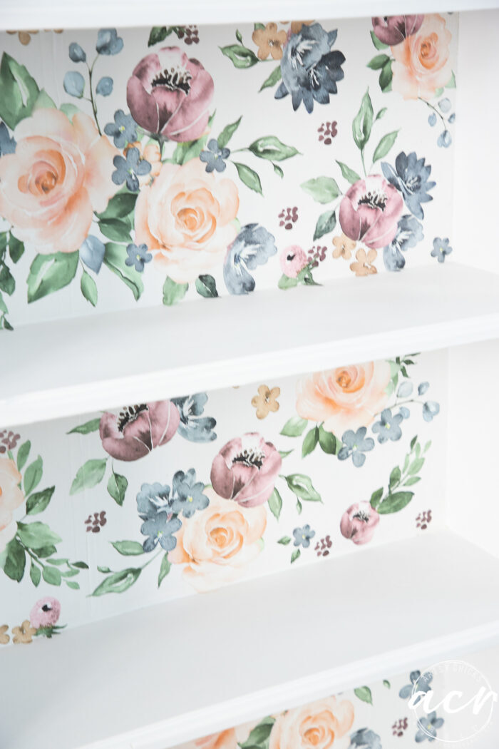 up close of pretty floral transfer background