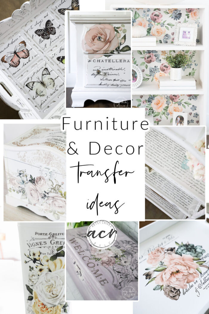 Beautiful furniture & decor transfers can bump your makeovers up a notch. So many design options to choose from! artsychicksrule.com