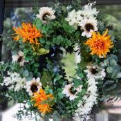 Easy Fall Wreath Idea