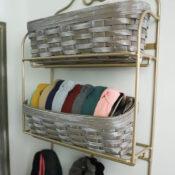 Longaberger Basket Makeover (wall storage)