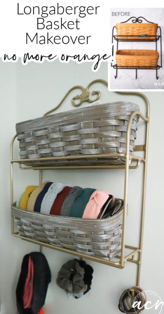 Have old Longaberger baskets that no longer fit your decor? Change them up and relove them all over again! artsychicksrule.com #basketmakeover