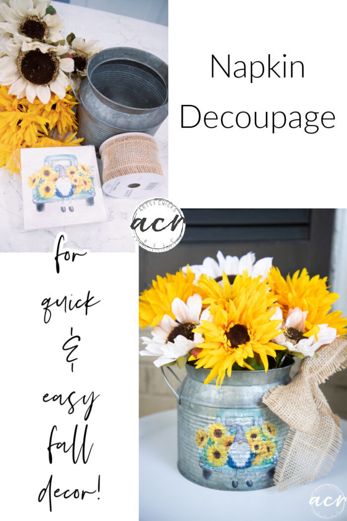 Sunflower decor for fall! The perfect way to say goodbye to summer and hello to fall. artsychicksrule.com #sunflowerdecor #sunflowerfall