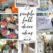 Fall In The House (DIY fall decor)