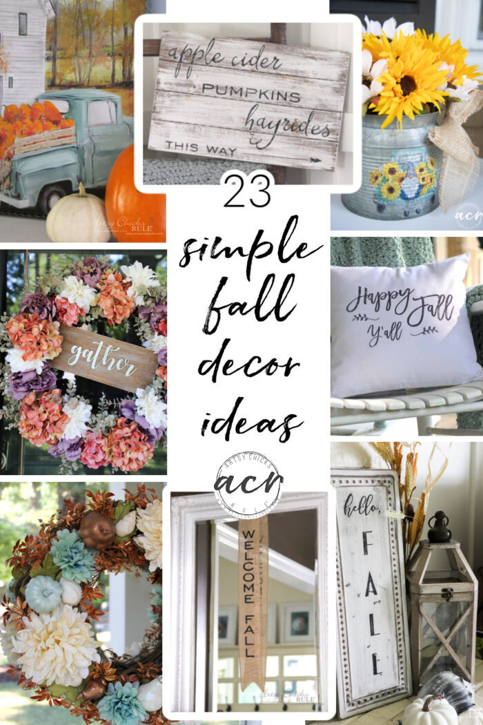 23 simple DIY fall decor ideas for your home! Get your fall (and your crafty) on with these easy and fun ideas. #diyfalldieas artsychicksrule.com