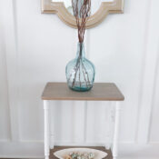 Coastal Style Side Table Makeover